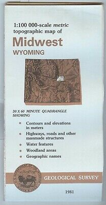 USGS Topographic Map  Wyoming MIDWEST 1981 - 100K -