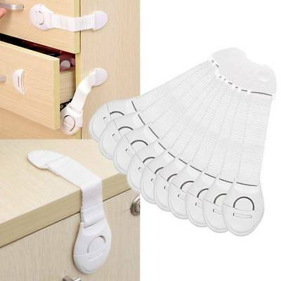 10x Baby Child Kid Box Drawer Cupboard Cabinet Wardrobe Door Safe Safety Lock qc