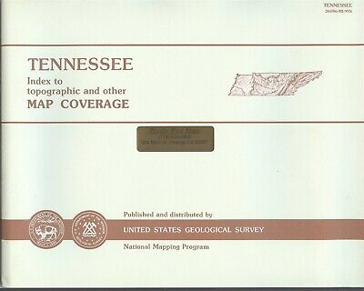USGS State Index for Topographic Maps TENNESSEE 1993