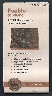 USGS topographic map PUEBLO Colorado 1:250,000 - 1989 - biopredation