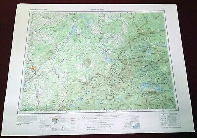 USGS Topographic Map SHERBROOKE Quebec CANADA New Hampshire Maine USA 1976 250K
