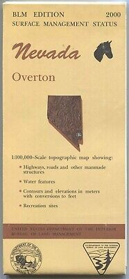 USGS BLM edition topographic map Nevada OVERTON -2000- surface 100K