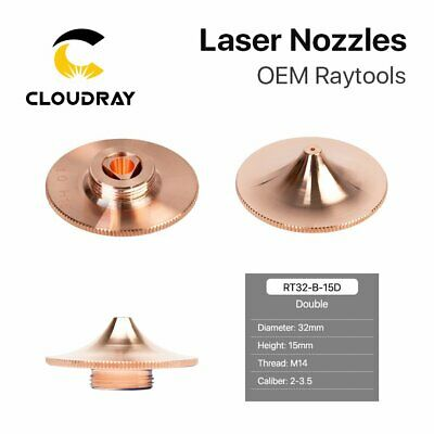 Fiber Laser Nozzle Double Layer Dia.32mm H15mm M14 for Raytools Cutting Head