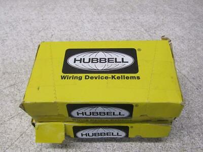 Lot of 20 Hubbell CR15 15A Duplex Receptacle 125VAC 2-Pole 3+-Wire Brown