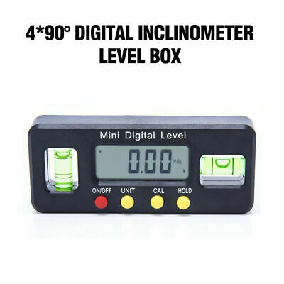 Magnetic LCD Digital Inclinometer Level Box Protractor Angle Finder Bevel Gauge