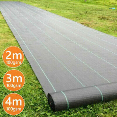 Heavy Duty Fabric Weed Control Membrane Garden Ground Cover Mat Landscape Sheet
