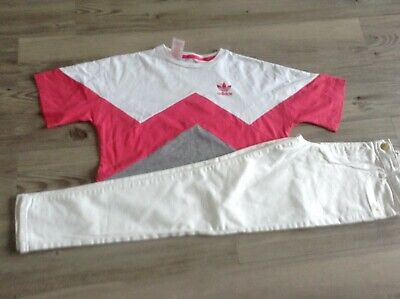 River Island Adidas Girls Small Bundle/Outfit 11-12Yrs  Top Molly Jeans  (C6)