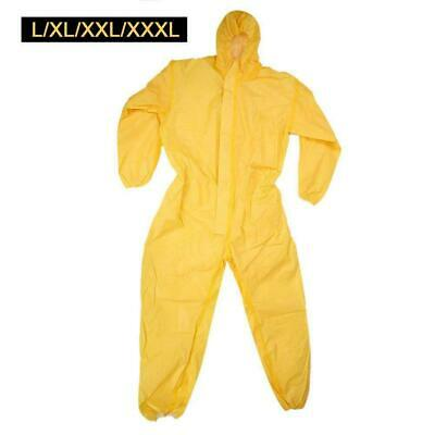 Safety Disposable Coveralls Clothing HDPE Bright Yellow XL XXL XXXL Oil-spill