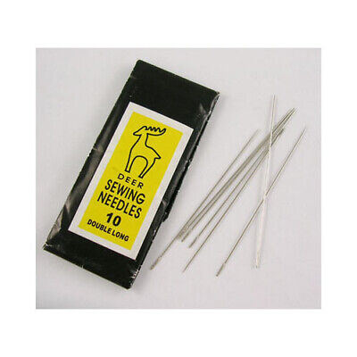 Packet 20 x Silver Iron Beading Needles 0.45 x 40mm Y05545