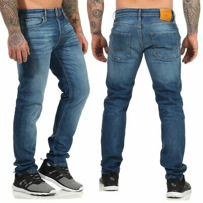 JACK & JONES Herren JEANS Mike Original jos 411 Comfort Fit Hose Blau
