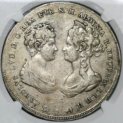 1807 NGC VF 30 Tuscany 10 Paoli Italy State Francescone Silver Coin (20031601C)