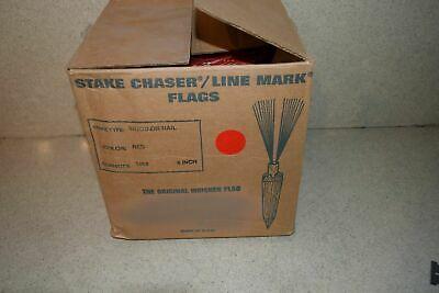 """^^ Stake Chaser/Line Mark Flags Red 6"""" - New (C1)"""
