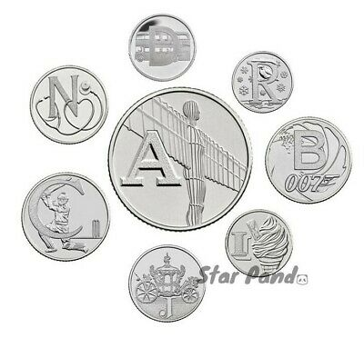 2018 Letter A To Z Ten Pence 10p Alphabet Coins Uncirculated BU Royal Mint