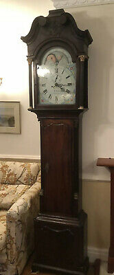Antique Grandfather Clock With Moon Phase  C 1820