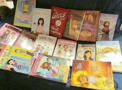 Lot of 15 GIRL Chapter Books Children's Youth Early Readers Home school Listed