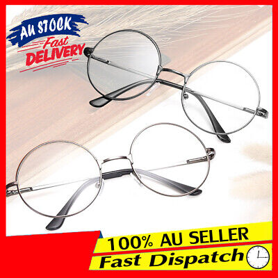 Round Glasses Clear Lens Unisex Fashion Harry potter Metal Frame Retro Vintage