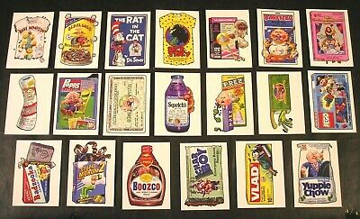 """2019 Garbage Pail Kids & Wacky Packages """"We Hate The 90's WACKY PAILS"""" SET of 20"""