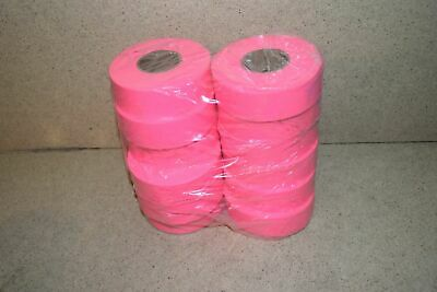 ^^ Flagging Survey Tape Pink Glo 12 Rolls - New (T1)