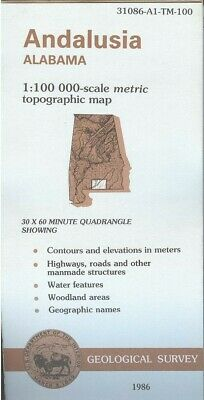 USGS Topographic Map ANDALUSIA - Alabama - 1986 - 100K -