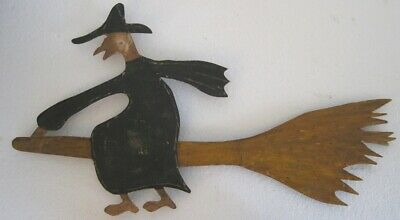 Iron Witch On Broom Weather Vane Cutout