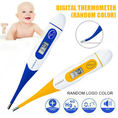 Soft Head Electronic LCD Thermometer Digital Baby Adult Medical Body Fever US