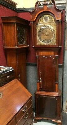 19th Century Inlaid Mahogany Long Case Grandfather Clock Richards Bilston