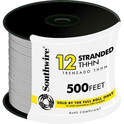 Southwire Electrical Wire 500 ft. Single Conductor Stranded Waterproof White