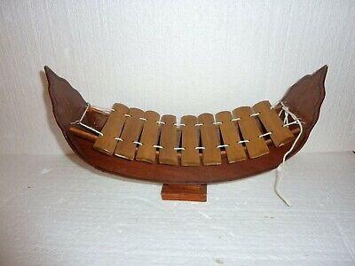 Vintage Chinese boat Xylophone Wooden