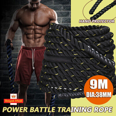 9M Battle Power Rope 38MM Heavy Battling Bootcamp Gym Exercise Fitness Training
