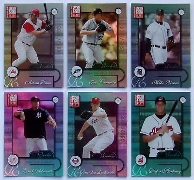 2001 Elite Extra Edition Set VICTOR MARTINEZ Mark Teixeira TRAVIS HAFNER SP RC