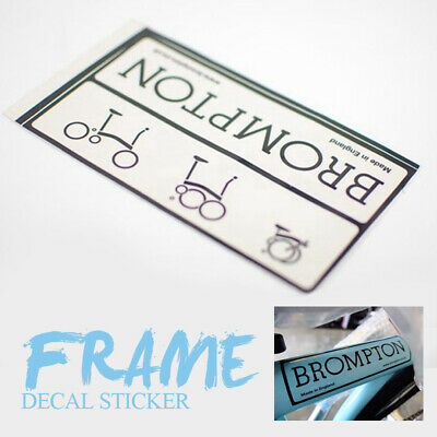 ACE Frame Decal Sticker for Brompton Bicycle Folding Bike Black/&White 1PC