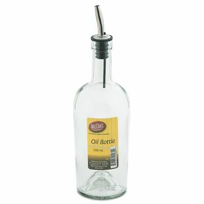 TableCraft H932 Clear 17 Oz. Glass Bottle with Pourer - 12 / PK