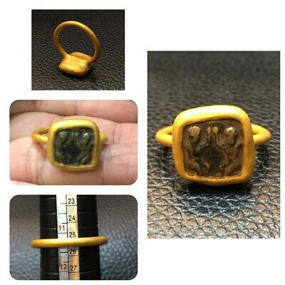 Afghanistan ancient Roman bronze brass coins gold plated rings very beautiful co
