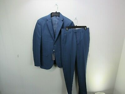 Brave Men's Three Piece Suit Blue Size 36SX30W