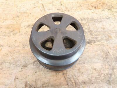 "Antique Vintage Cast Iron 1882 3"" Flange Door Trolley Train Wheels"