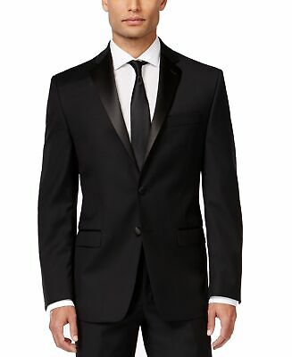Calvin Klein Mens Suit Separates Black Size 39 Two Button Slim Fit $150 163