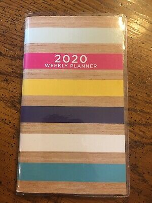 """NEW, Handbag or Pocket Size 2020 Weekly Planner Calendar, 3.5"""" X 6"""", 120 Pages"""