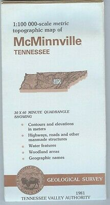 USGS Topographic Map McMINNVILLE - TVA - Tennessee - 1981 - 100K -