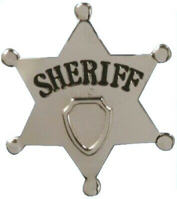 """1/"""" HAT PIN SHERIFF STAR OLD WEST PIN BADGE OBSELETE PB10 Made in USA"""
