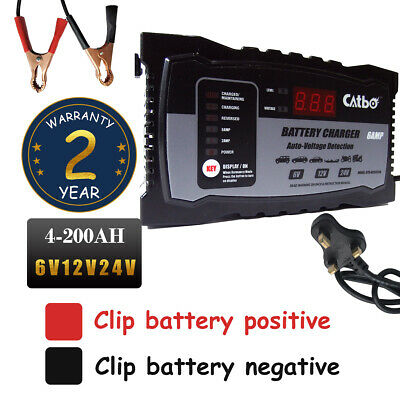 Fast Smart Car Battery Charger Automatic Intelligent Lead Acid/GEL 24V12V6V/2A6A