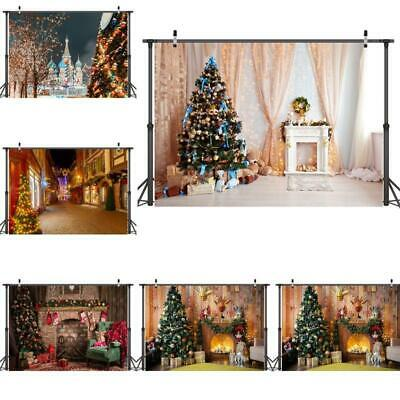 Christmas Printed Background Cloth Photography Props Wall Art Decoration P0D