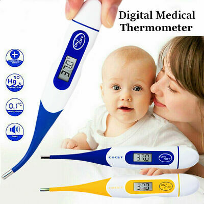 New Digital Medical LCD Flexible Tip Thermometer Baby Adult Oral Mouth Rectal UK