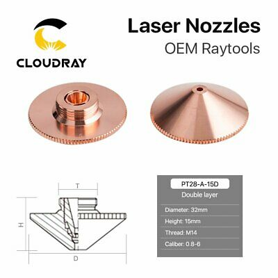 Fiber Laser Double Layers Nozzle Dia.32mm Hight 15mm for Raytools Laser Head
