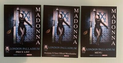 Madonna Madame X Tour London Palladium Vip Flyers (3 Different)
