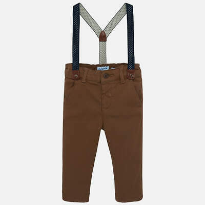 Mayoral Slim fit chino trousers with braces for baby boy age 2 years SALE