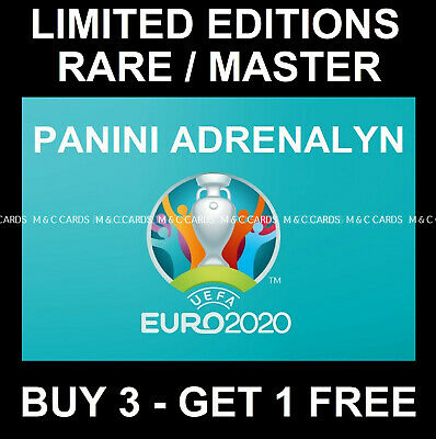 Panini ADRENALYN EURO 2020 LIMITED EDITION / RARE / MASTER / INVINCIBLE CARDS