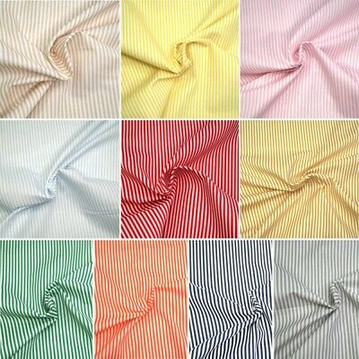 100% Cotton Fabric 3mm Candy Stripes Lines 140cm Wide Crafty