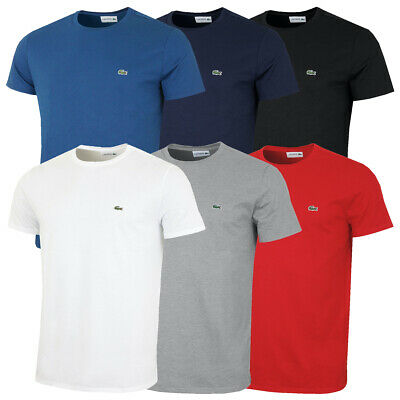 Lacoste Mens Supple Jersey Cotton Regular Fit Crew Neck T-Shirt 26/% OFF RRP