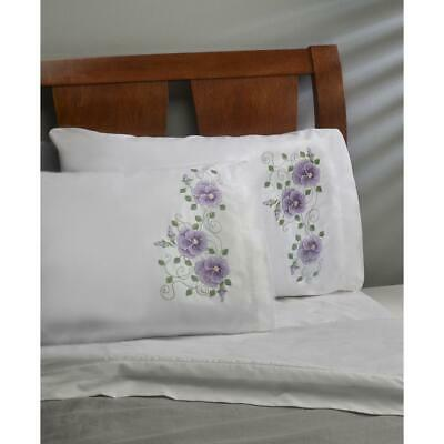 DESIGN WORKS Premium Pillow Cases 2pk for Stamped Embroidery LIGHTHOUSE