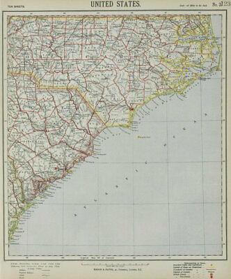 NORTH & SOUTH CAROLINA COAST. Outer Banks. Sea Islands. Hatteras LETTS 1884 map